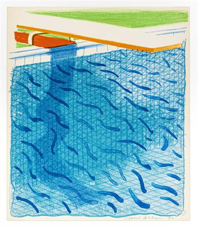 Pool Made with Paper and Blue Ink for Book (MCA Tokyo 234)